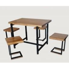 Набор мебели СВ4 (в комплекте стол и стулья 4 шт)  (металл + дерев. сосна)
