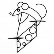 Настенная подставка для цветов Крыса на сыре НГ17