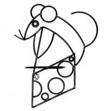 Настенная подставка для цветов Крыса на сыре НГ18