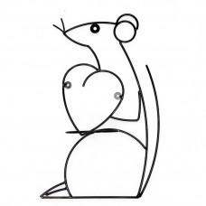 Подставка для цветов Крыса с сердцем настенная НГ10