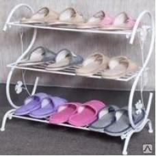Полка для обуви домашней в прихожую металлическая ПО11