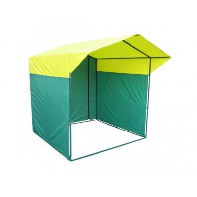 Торговая палатка Домик 2,5х1,9 м разборная желтый/зеленый
