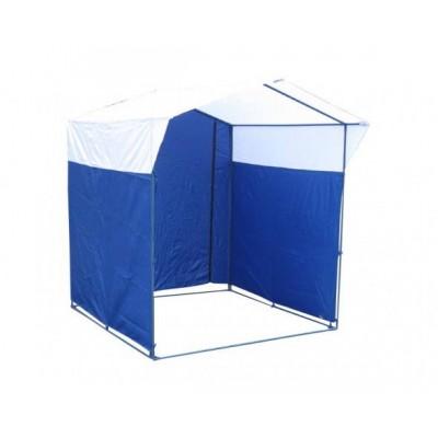 Торговая палатка «ДОМИК» 1,5 X 1,5 синий/белый