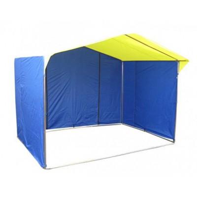Торговая палатка «ДОМИК» 2.5 X 2 из трубы 25мм синий/желтый