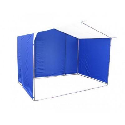 Торговая палатка «ДОМИК» 2.5 X 2 из трубы 25мм синий/белый