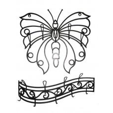 Вешалка двойная Бабочка ВШ15