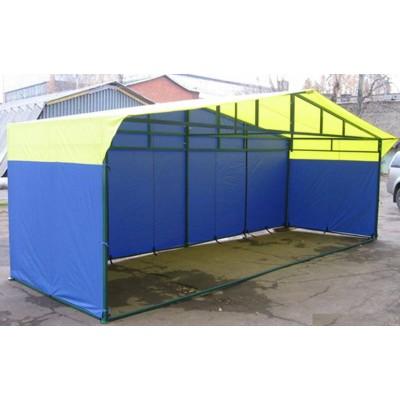 Торговая палатка «ДОМИК» 6 Х 2 (каркас из квадратной трубы 40х20 и 20х20) фото