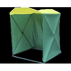 Палатка торговая Кабриолет 1.5 X 1.5 (быстроразборная) зеленый/желтый