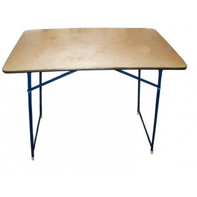 Стол торговый складной 0,9 х 0,6 м (ламинированный ДВП) фото