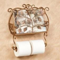 Настеный держатель туалетной бумаги и газет Ажур Н3