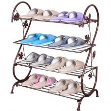 Полка для обуви домашней в прихожую металлическая ПО10