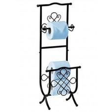 Напольный держатель туалетной бумаги  металлический Н13