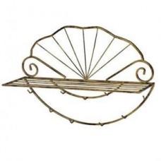 Металлическая вешалка Ракушка для одежды и ключей ВШ9
