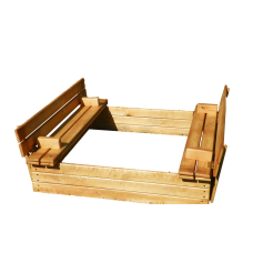 Деревянная песочница с крышкой 120*120 см
