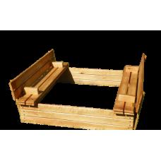 Деревянная песочница с крышкой 150*150 см