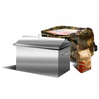 Коптильня домиком с гидрозамком серии «Стандарт» 1,5 мм КС-13 500*300*250 фото