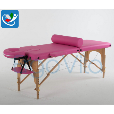 Складной массажный стол ErgoVita Classic (розовый) фото
