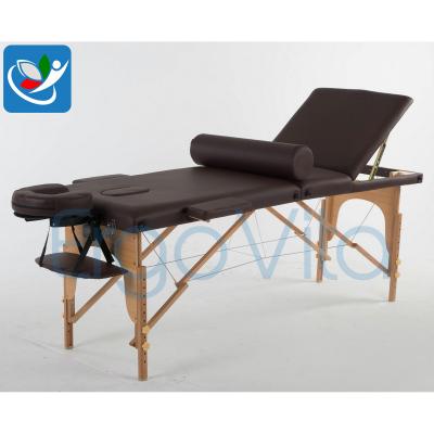 Складной массажный стол ErgoVita Classic Plus (коричневый) фото