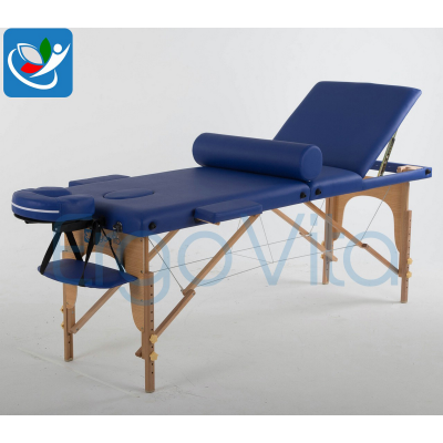 Складной массажный стол ErgoVita Classic Plus (синий)