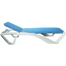 Шезлонг пластиковый ACQUA SUN LOUNGER WHITE/BLUE 2x
