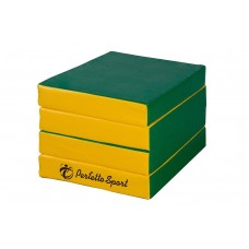 """Мат """"PERFETTO SPORT"""" № 11 (100 х 100 х 10) складной 4 сложения зеленый/желтый"""