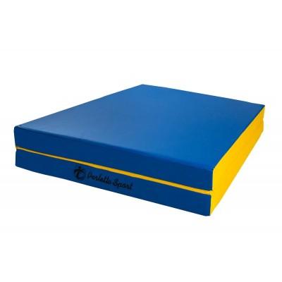 """Мат """"PERFETTO SPORT"""" № 8 (100 х 200 х 10) складной 1 сложение сине/жёлтый"""