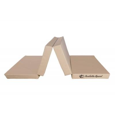 "Мат гимнастический ""PERFETTO SPORT"" № 5 (100 х 200 х 10) складной 3 сложения бежевый"