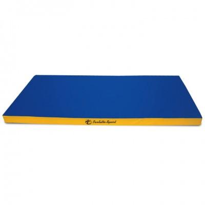 """Мат гимнастический """"PERFETTO SPORT"""" № 9 (100 х 150 х 10) синий/жёлтый"""