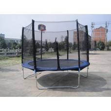 Батут складной RS Funfit Вasket 2,52 м. с баскетбольным кольцом и сеткой