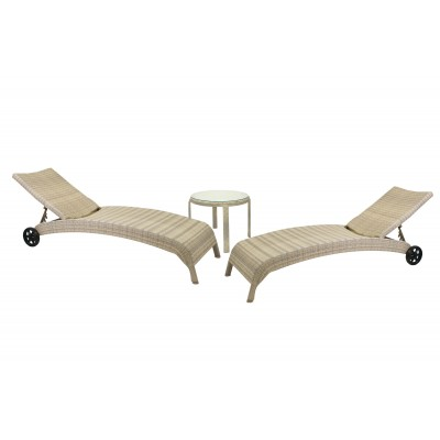 2 шезлонга и столик WICKER, Garden4you 11759, 13373
