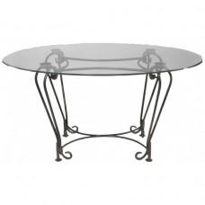 Кованый стол со стеклянной столешницей КОВ4