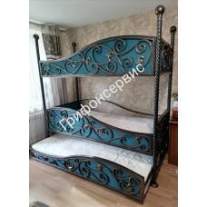 Кровать трехъярусная КД19