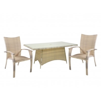 Стол и 4 стула WICKER, Garden4you 1333, 12708