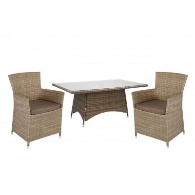 Стол и 6 кресел WICKER, Garden4you 13332, 0946