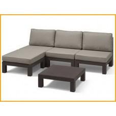 Комплект угловой мебели трансформер Keter Nevada Low Set