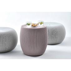 Комплект мебели KETER Urban Knit Set (2 пуфика и столик)