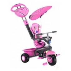 Велосипед 3-х колесный Smart Trike Sport пластиковые колёса розовый (1790200)