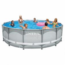Каркасный бассейн Intex Ultra Frame 26310 427х107см + фильтр-насос, лестница, тент, подстилка