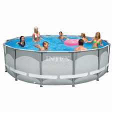 Каркасный бассейн Intex Ultra Frame 26322 488х122см + фильтр-насос, лестница, тент, подстилка