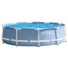 Каркасный бассейн Intex Prism Frame 26736 457х122см + фильтр-насос, лестница, тент, подстилка