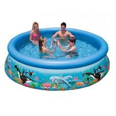 Каркасный бассейн 305x76 см, Easy Set Рифы океана, Intex 28124/54900