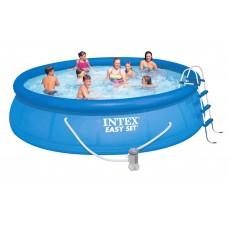 Бассейн с комплектом 457х107 см, Easy Set, Intex 28166/54908
