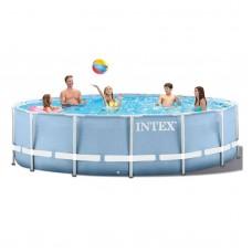 Каркасный бассейн Intex Prism Frame 28734 457x107 см + фильтр-насос, лестница, тент, подстилка