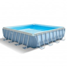 Каркасный бассейн Intex Prism Frame 28764 427х427х107см+фильтр-насос, лестница, тент, подстилка