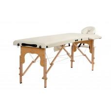 Складной 2-х секционный деревянный массажный стол BodyFit, бежевый