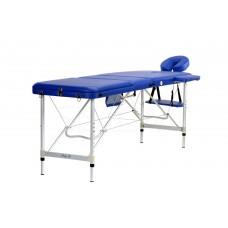Складной 3-х секционный алюминиевый массажный стол BodyFit, синий
