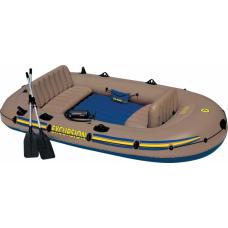 Надувная лодка четырехместная Intex 68324NP Excursion 4, размер 315х165x43 см.