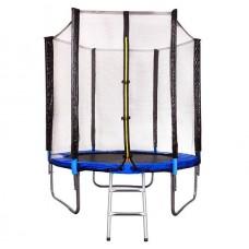 Батут складной Funfit 1,83 м. с защитной сеткой и лестницей