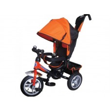 """Детский трехколесный велосипед Trike Formula 3, надувные колеса 12""""/10"""", цвет оранжевый (FA3O)"""