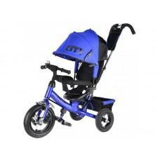 """Детский трехколесный велосипед Trike City, надувные колеса 12""""/10"""", цвет синий (JW7BB)"""